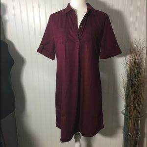 Karen Scott Woven Shirtdress